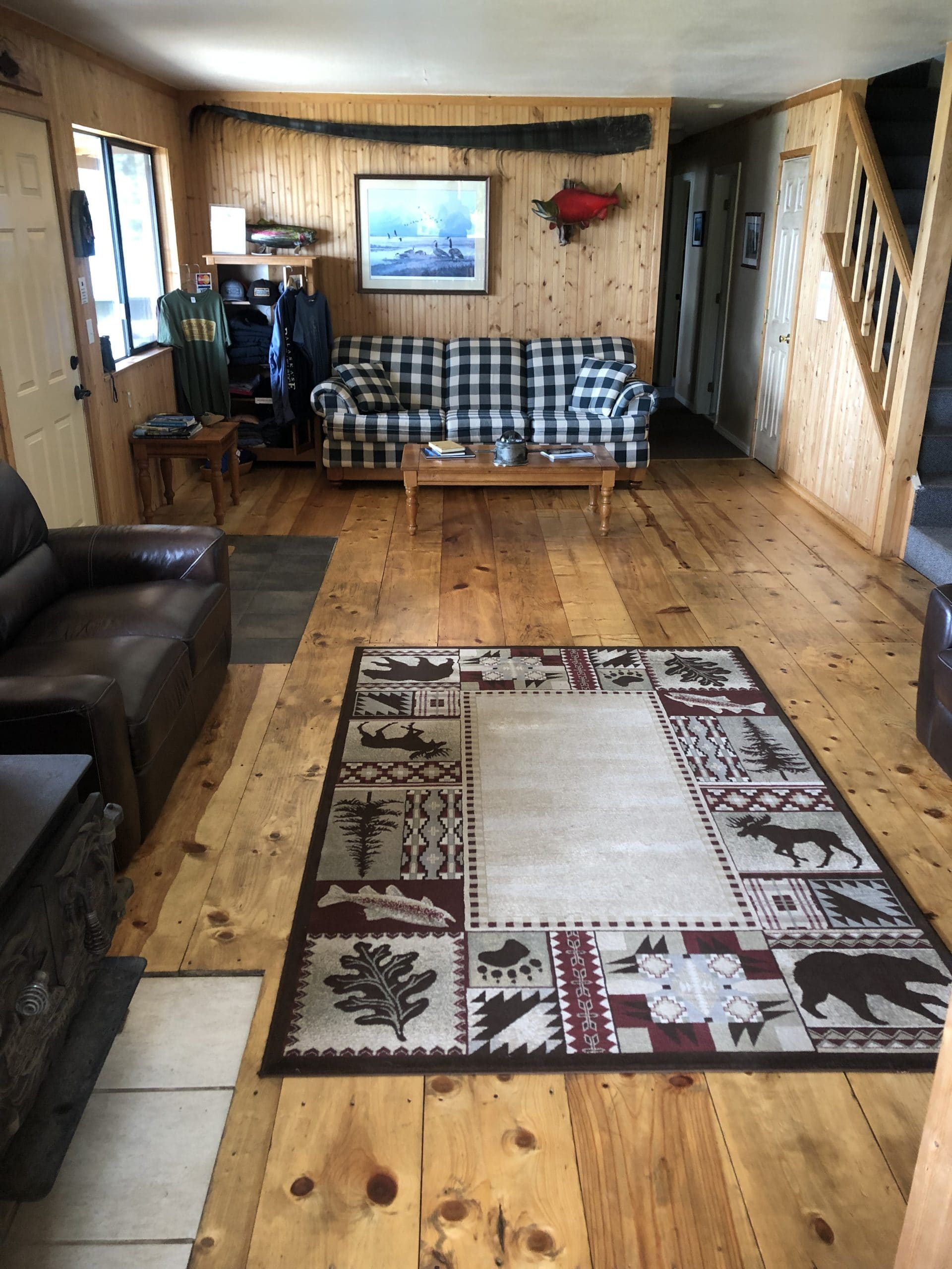 alaska fishing lodge interior